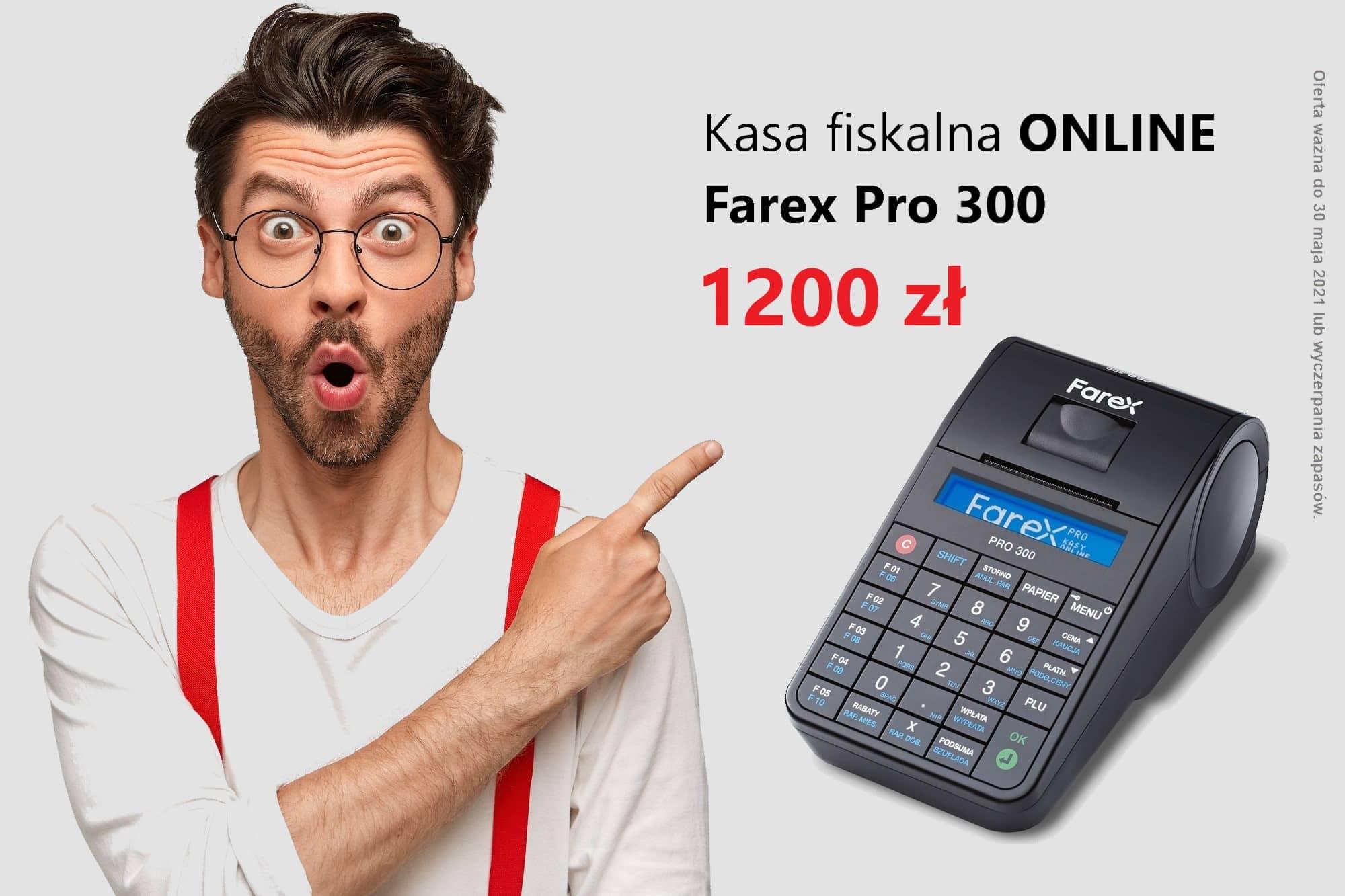 Kasa fiskalna Farex PRO 300 już za 1200 złotych